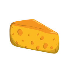 Yellow cheese cheddar food vector