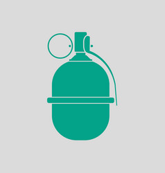 Attack grenade icon vector