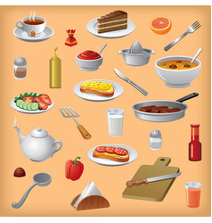 Meals and dishes vector