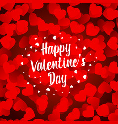 Happy valentines day beautiful hearts background vector