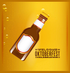 Welcome oktoberfest beer festival vector