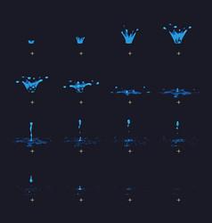 Cartoon water splash with drops fx vector