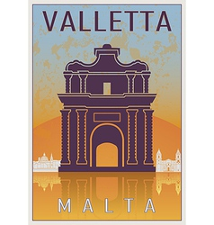 Valletta vintage poster vector