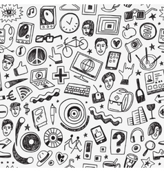 hipsters seamless background vector image