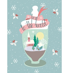 Glass jar greeting card vector
