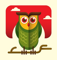 Comic owl vector