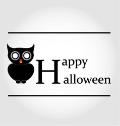 Owl happy halloween vector