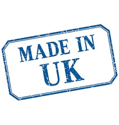 Uk - made in blue vintage isolated label vector