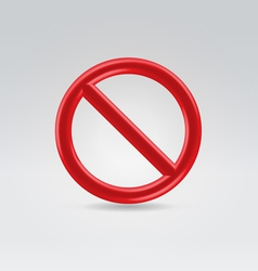 Red round sign of prohibition vector