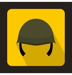 Military helmet icon flat style vector