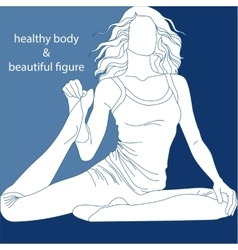 a healthy body and beautiful figure vector image