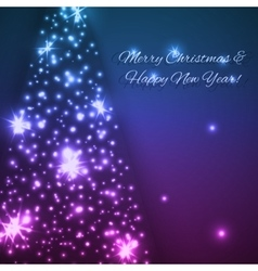Blue christmas and new year background vector