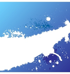 Blue ink background vector image
