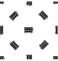 Cd changer pattern seamless black vector
