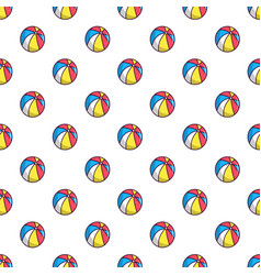 Colorful circus ball pattern vector
