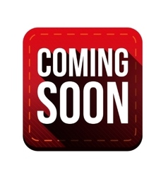 Coming soon button red vector image vector image