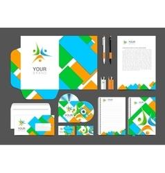 Corporate identity branding template vector