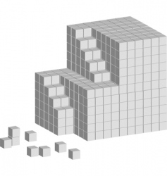 cube ladder vector image vector image