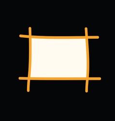Frame on black vector
