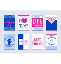 Friendship day typography vector