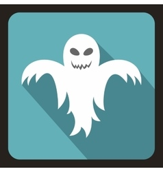 Halloween ghost icon flat style vector image