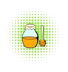 Honey bank and dipper icon comics style vector