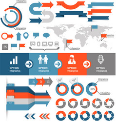 Infographics and statistic elements and icons vector