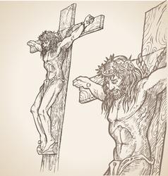 jesus han draw vector image vector image