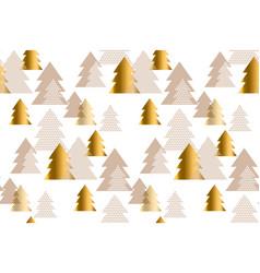 luxury light xmas tree seamless pattern vector image vector image