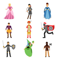 medieval characters set people in the historical vector image vector image