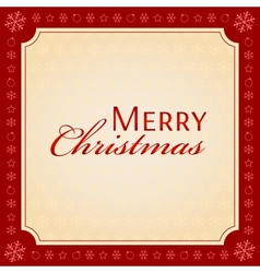 MERRY CHRISTMAS holiday season concept vector image
