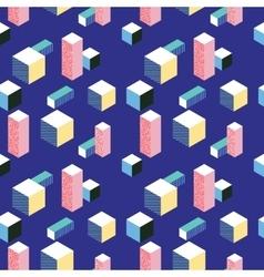Postmodern 80s style seamless pattern vector image