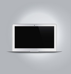 Realistic laptop computer device mockup vector