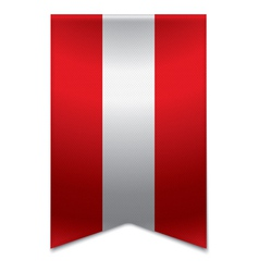 Ribbon banner - austrian flag vector
