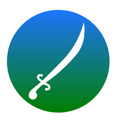 Sword sign white icon in vector