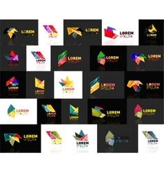 Triangle geometric shapes set of abstract logos vector image