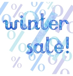 Winter sale shopping advertising vector