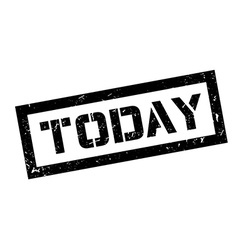 Today rubber stamp vector image