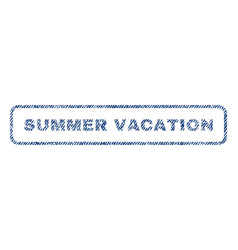 Summer vacation textile stamp vector