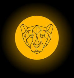 Cheetah head geometric sign vector