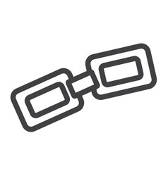 Link line icon chain and website button vector