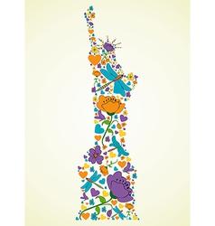 Springtime New York vector image