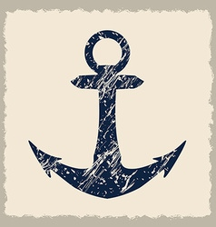 Anchor design vector