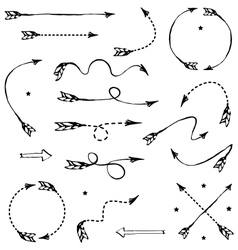 Set of graphic arrows for your design vector image