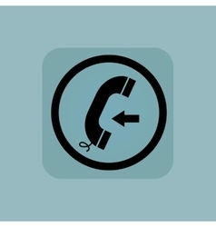 Pale blue incoming call sign vector
