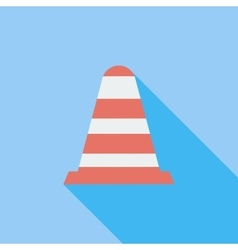 Road cone single icon vector