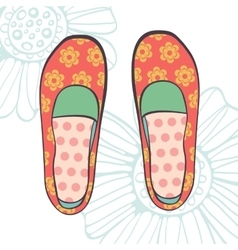 An of fashionable girl shoes vector image