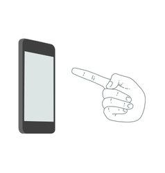 Demonstration screen mobile phone vector