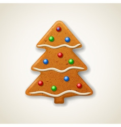 Christmas gingerbread fir-tree vector