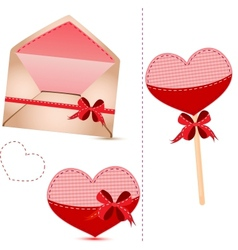 Gift set valentines day vector